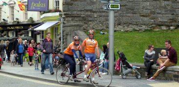Caernarfon.  A Tandem Club National Rally based nearby.