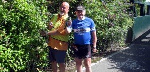 Phil Rogers (Sustrans) & Roy Spilsbury CTC clearing a way.