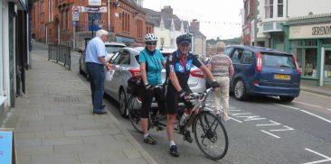 Denbigh. Prestatyn cyclists out for a short spin