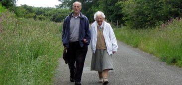 Lon Eifion. For Arfon & Valmair (Pen y Groes) their daily walk is their quality living.