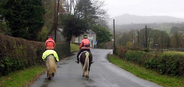 Overtaking horse riders requires great care by both drivers and cyclists.