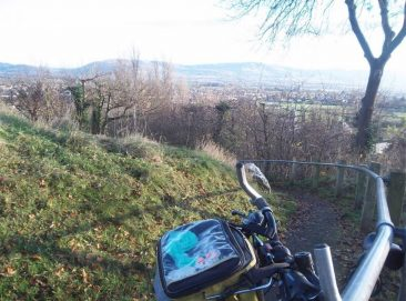 Denbigh. A path near the Castle