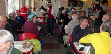 Pantri Bach Cafe, Pensarn. Cyclists Christmas Dinner
